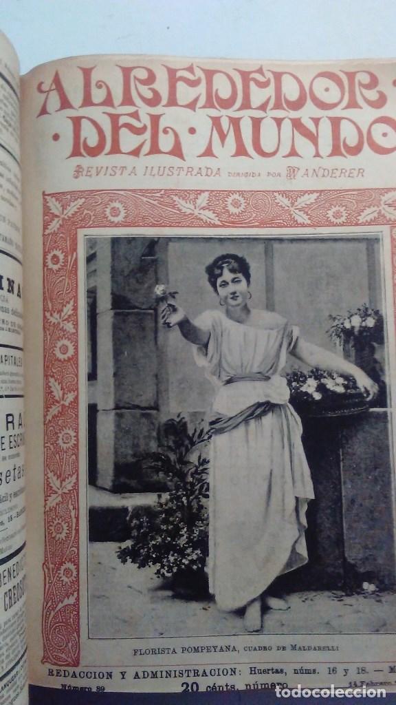 Libros antiguos: Cuatro tomos encuadernados de la antigua revista Alrededor del mundo ( años 1899, 1901, 1904,1908) - Foto 17 - 64929183