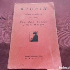 Libros antiguos: LIBRO LOS DOS LUISES Y OTROS ENSAYOS, DE AZORÍON. EDIT. CARO RAGGIO, MADRID 1921. Lote 65244075