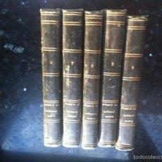 Libros antiguos: COLECCIÓN COMPLETA 5 TOMOS LA MAISON RUSTIQUE AÑO 1844 Y FACTURA DE ENVIO. Lote 165999060
