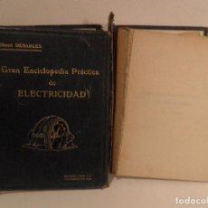 Libros antiguos: GRAN ENCICLOPEDIA PRACTICA DE ELECTRICIDAD-EDITORIAL LABOR AÑO1919-COMPLETA 2 TOMOS, MAS DE1600 PAG,. Lote 65702846