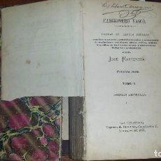 Libros antiguos: CANCIONERO VASCO. JOSÉ MANTEROLA. TRES SERIES EN UN VOLUMEN. (1877-1880). Lote 65803494