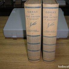 Libros antiguos: OBRAS DE JOSÉ ORTEGA Y GASSET 2ª ED.-CORREGIDA Y AUMENTADA 1936. Lote 65882802