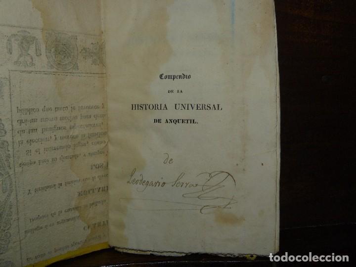 Libros antiguos: COMPENDIO DE LA HISTORIA UNIVERSAL DE ANQUETIL, TOMOS II y III. 1831 - Foto 8 - 65954142