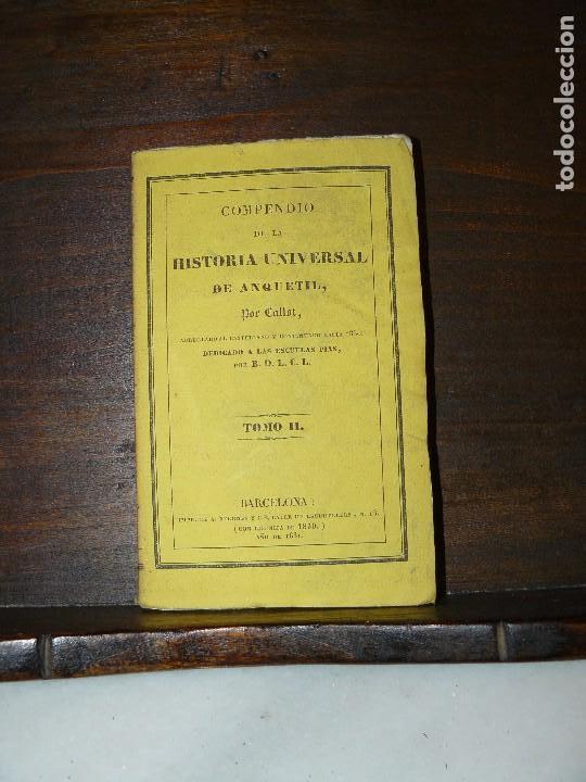 Libros antiguos: COMPENDIO DE LA HISTORIA UNIVERSAL DE ANQUETIL, TOMOS II y III. 1831 - Foto 10 - 65954142
