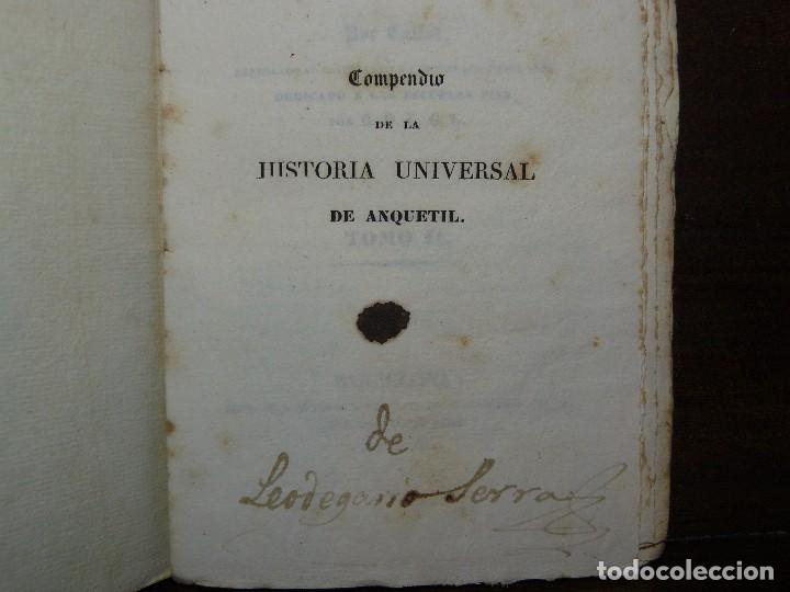 Libros antiguos: COMPENDIO DE LA HISTORIA UNIVERSAL DE ANQUETIL, TOMOS II y III. 1831 - Foto 12 - 65954142