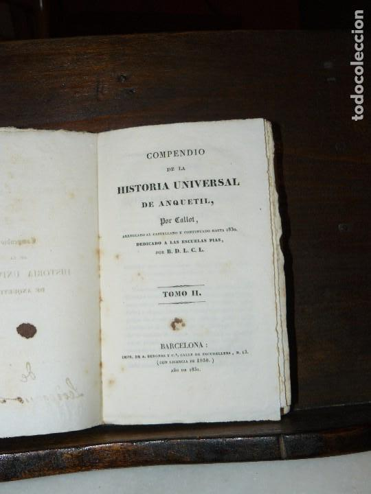 Libros antiguos: COMPENDIO DE LA HISTORIA UNIVERSAL DE ANQUETIL, TOMOS II y III. 1831 - Foto 13 - 65954142