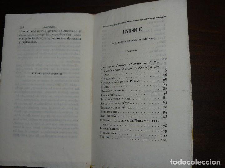 Libros antiguos: COMPENDIO DE LA HISTORIA UNIVERSAL DE ANQUETIL, TOMOS II y III. 1831 - Foto 14 - 65954142