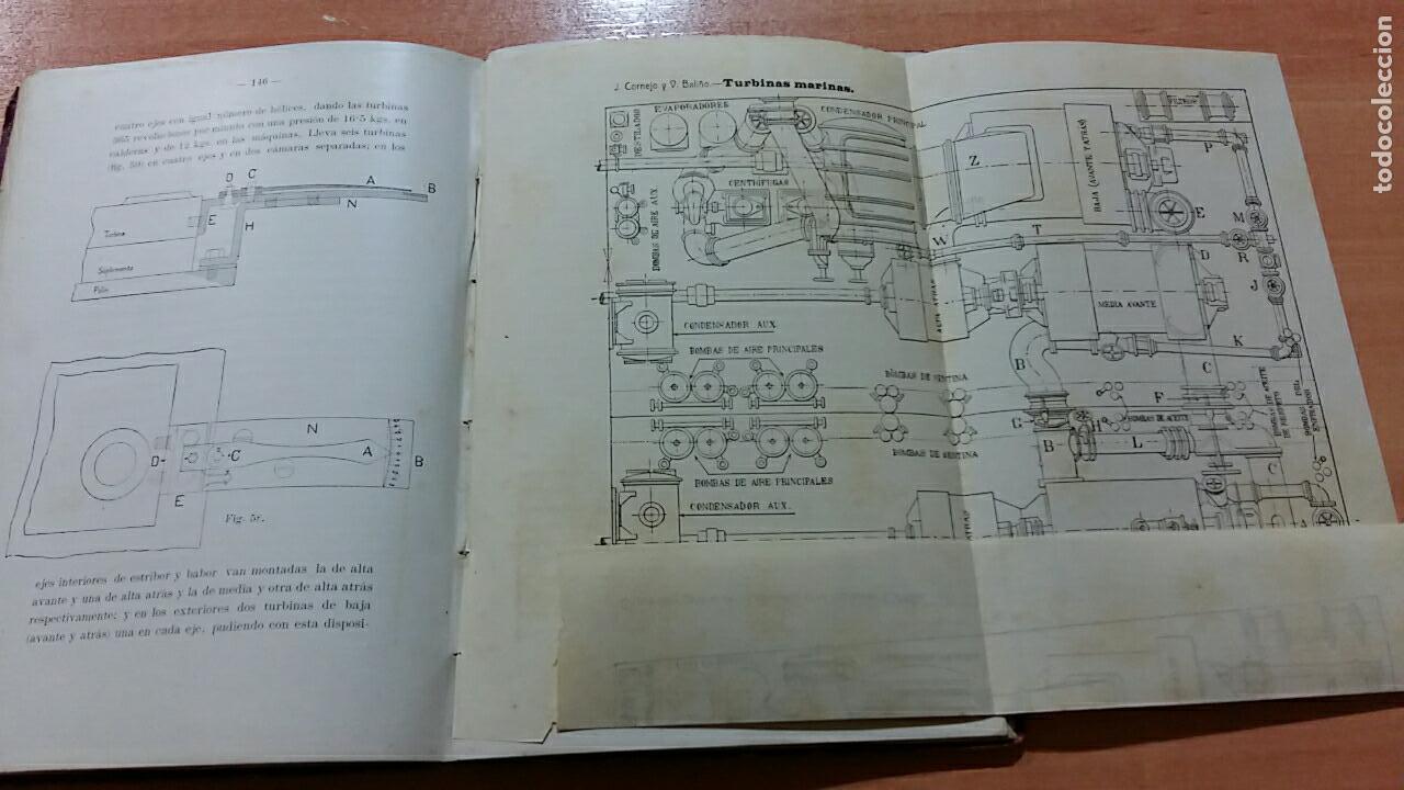 Libros antiguos: TURBINAS MARINAS, J CORNEJO Y V BALIÑO, FERROL LA CORÚÑA 1912. CONTIENE NUMEROSAS FIGURAS - Foto 4 - 66009674