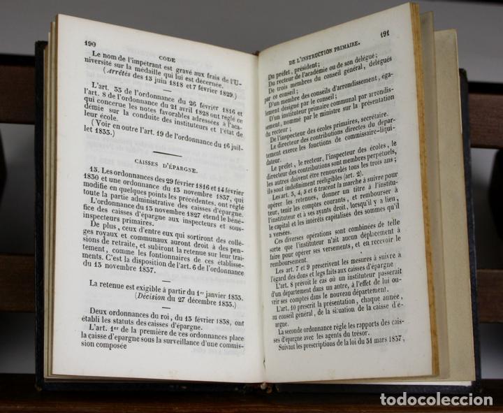 LP-315 - CODE DE L'INSTRUCTION PRIMAIRE. VV. AA. ÉDITEUR PAULIN. 1842. (Libros Antiguos, Raros y Curiosos - Pensamiento - Otros)