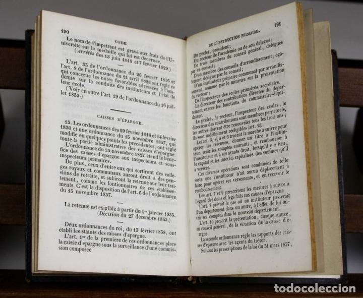 Libros antiguos: LP-315 - CODE DE LINSTRUCTION PRIMAIRE. VV. AA. ÉDITEUR PAULIN. 1842. - Foto 2 - 66129986