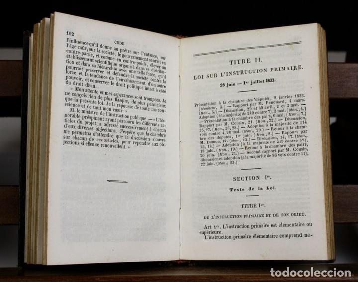 Libros antiguos: LP-315 - CODE DE LINSTRUCTION PRIMAIRE. VV. AA. ÉDITEUR PAULIN. 1842. - Foto 3 - 66129986