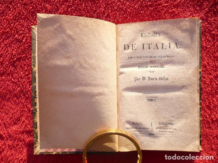 Libros antiguos: HISTORIA DE ITALIA. JULIO ZELLER. JUAN BELZA, TOMO I . EDIT. PLUS ULTRA. BARCELONA. 1858 - Foto 5 - 66135166
