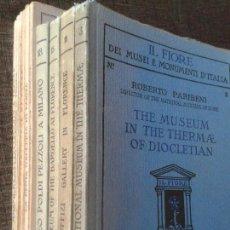 Libros antiguos: 10 GUÍAS DE LOS AÑOS 30 (HASTA 1942) DE MUSEOS Y GALERÍAS DE ARTE ITALIANAS, ÁMPLIAMENTE ILUSTRADAS. Lote 66163378