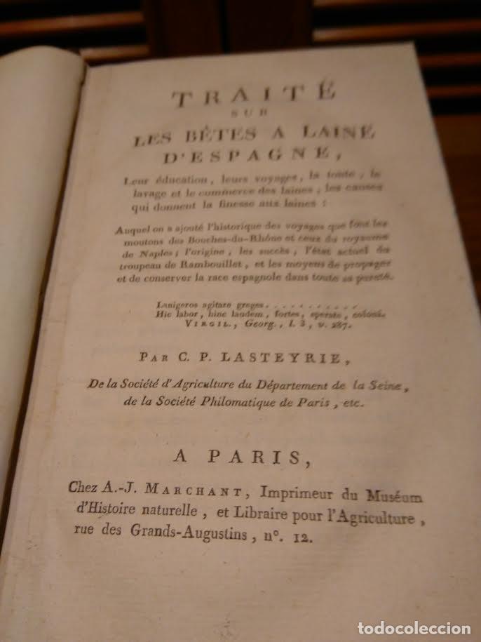 Libros antiguos: C P Lasteyrie. Traité sur les bêtes a laine dEspagne, .., leur voyages...LA MESTA. c1800 - Foto 2 - 66209126