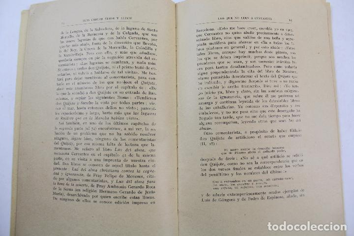 Libros antiguos: L- 4159. LOS QUE NO LEEN A CERVANTES, L. CARLOS VIADA Y LLUCH. 1935. - Foto 3 - 66222838