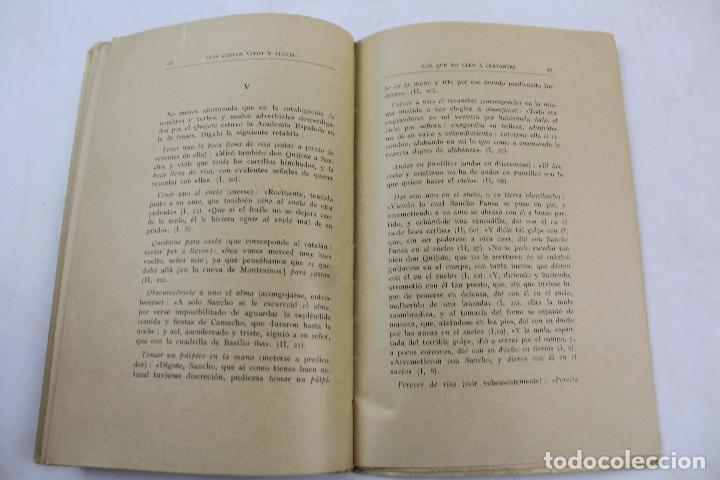 Libros antiguos: L- 4159. LOS QUE NO LEEN A CERVANTES, L. CARLOS VIADA Y LLUCH. 1935. - Foto 4 - 66222838