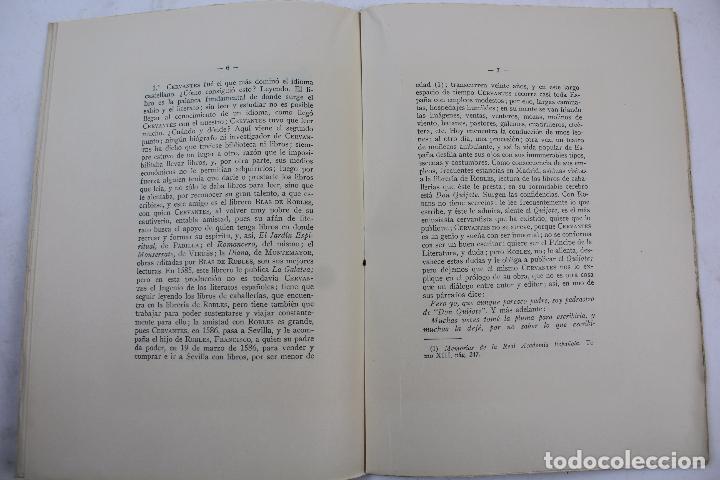 Libros antiguos: L- 4160. CERVANTES, ROBLES Y JUAN DE LA CUESTA. FRANCISCO VINDELL. 1934. - Foto 3 - 66223502
