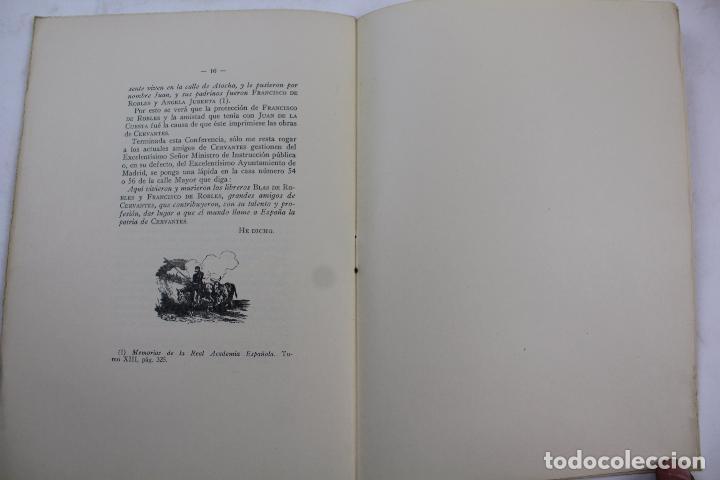 Libros antiguos: L- 4160. CERVANTES, ROBLES Y JUAN DE LA CUESTA. FRANCISCO VINDELL. 1934. - Foto 5 - 66223502