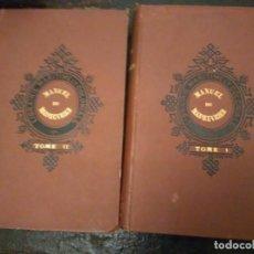 Libros antiguos: VV.AA. MANUEL DU MANOEUVRIER A L'USAGE DE L'ECOLE NAVALE 2 VOLS 1896. APAREJO Y MANIOBRA DE BUQUES.. Lote 66301362