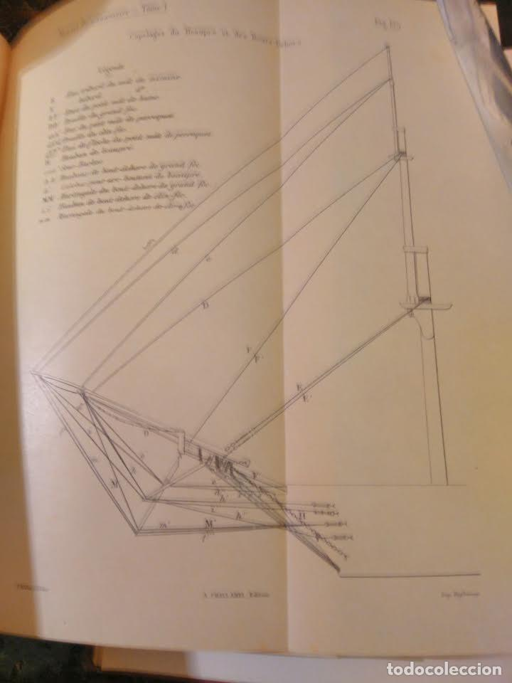 Libros antiguos: VV.AA. Manuel du Manoeuvrier a lusage de lEcole Navale 2 vols 1896. Aparejo y Maniobra de buques. - Foto 3 - 66301362