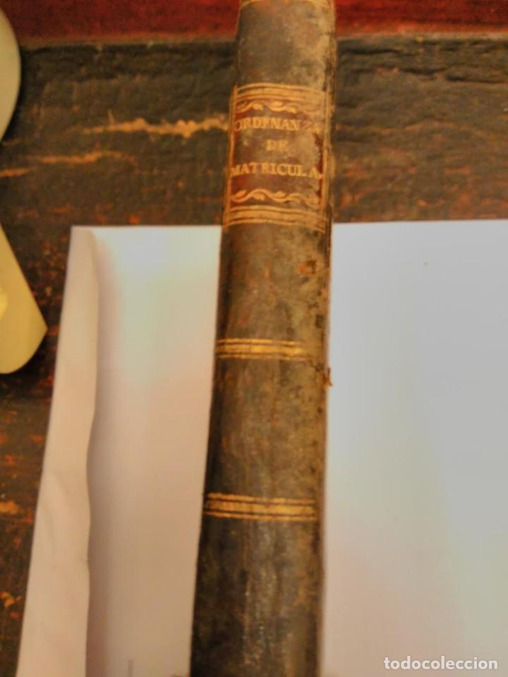 ORDENANZA DE S.M PARA EL RÉGIMEN Y GOBIERNO MILITAR DE LAS MATRICULAS DE MAR, 1802 (Libros Antiguos, Raros y Curiosos - Ciencias, Manuales y Oficios - Otros)