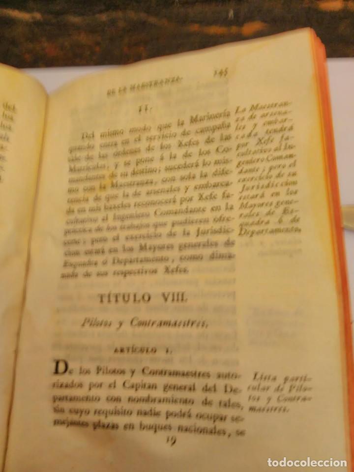 Libros antiguos: Ordenanza de S.M para el régimen y gobierno militar de las matriculas de mar, 1802 - Foto 3 - 66531778