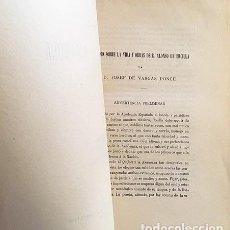 Libros antiguos: VARGAS: ESTUDIOS SOBRE... ALONSO DE ERCILLA; LA ARAUCANA; DISCURSOS, NECROLOGÍAS, ETC. (R ACADEMIA . Lote 66575782