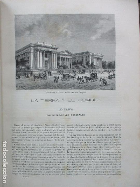 Libros antiguos: LA TIERRA Y EL HOMBRE DESCRIPCIÓN PINTORESCA DE NUESTRO GLOBO. FEDERICO DE HELLWALD. 1886-87. - Foto 4 - 82531596