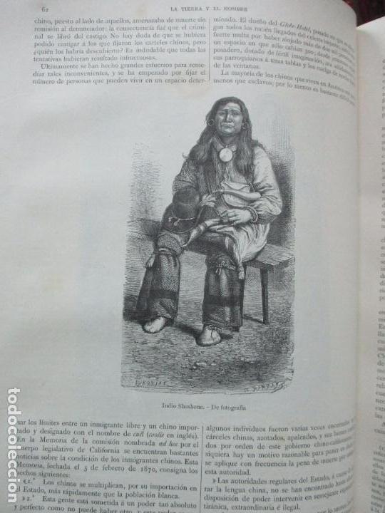 Libros antiguos: LA TIERRA Y EL HOMBRE DESCRIPCIÓN PINTORESCA DE NUESTRO GLOBO. FEDERICO DE HELLWALD. 1886-87. - Foto 5 - 82531596
