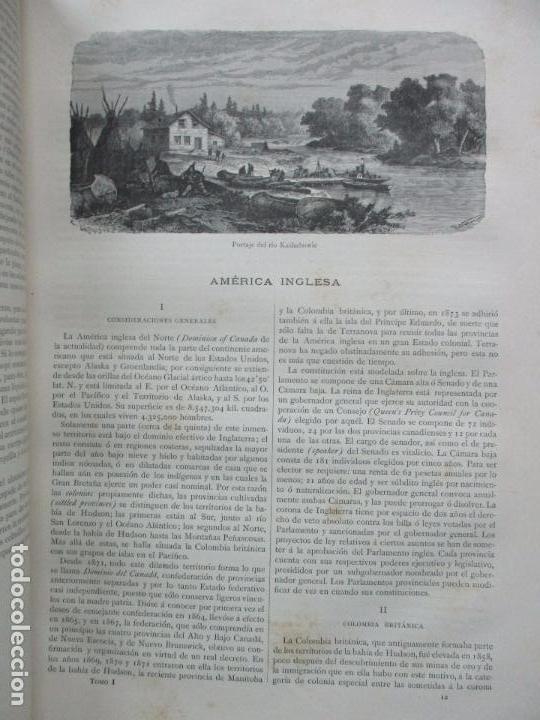 Libros antiguos: LA TIERRA Y EL HOMBRE DESCRIPCIÓN PINTORESCA DE NUESTRO GLOBO. FEDERICO DE HELLWALD. 1886-87. - Foto 6 - 82531596