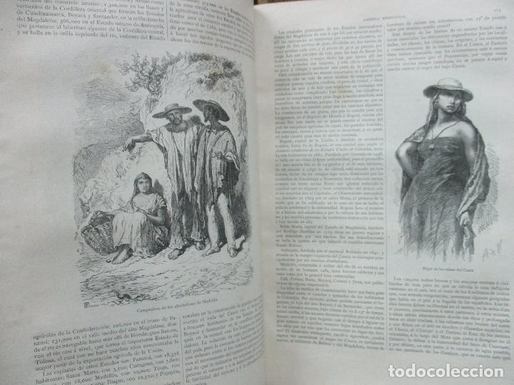 Libros antiguos: LA TIERRA Y EL HOMBRE DESCRIPCIÓN PINTORESCA DE NUESTRO GLOBO. FEDERICO DE HELLWALD. 1886-87. - Foto 8 - 82531596
