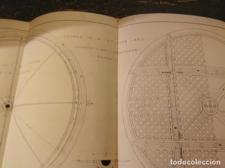 Libros antiguos: S.C. Brees. Railway Practice. Volumen II. Atlas de obras públicas de ferrocarriles Ca 1840 - Foto 7 - 66821078