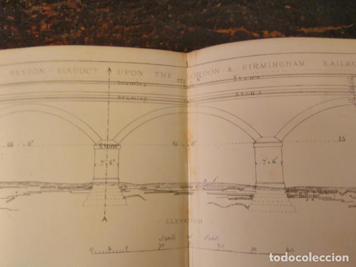 Libros antiguos: S.C. Brees. Railway Practice. Volumen II. Atlas de obras públicas de ferrocarriles Ca 1840 - Foto 8 - 66821078