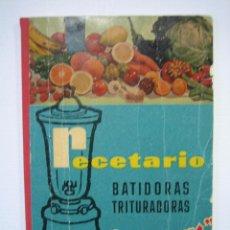 Libros antiguos: RECETARIO. MANUAL TÉCNICO DE LA BATIDORA BERRENS. Lote 66876486