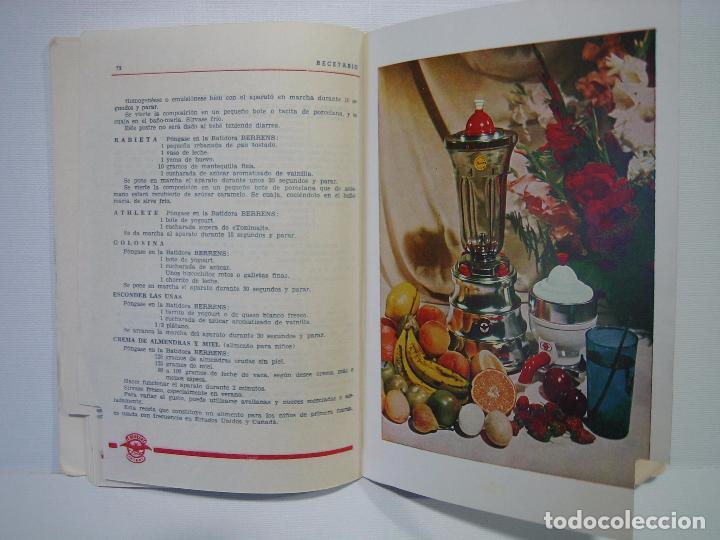 Libros antiguos: Recetario. Manual técnico de la batidora Berrens - Foto 6 - 66876486