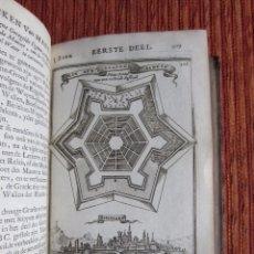 Libros antiguos: 1695-TRABAJOS MARS.131 GRABADOS CASTILLOS-FORTALEZA.VILLANOVA-BARCELONA-ALBURQUERQUE-PALMA-VILLAVICI. Lote 66936434