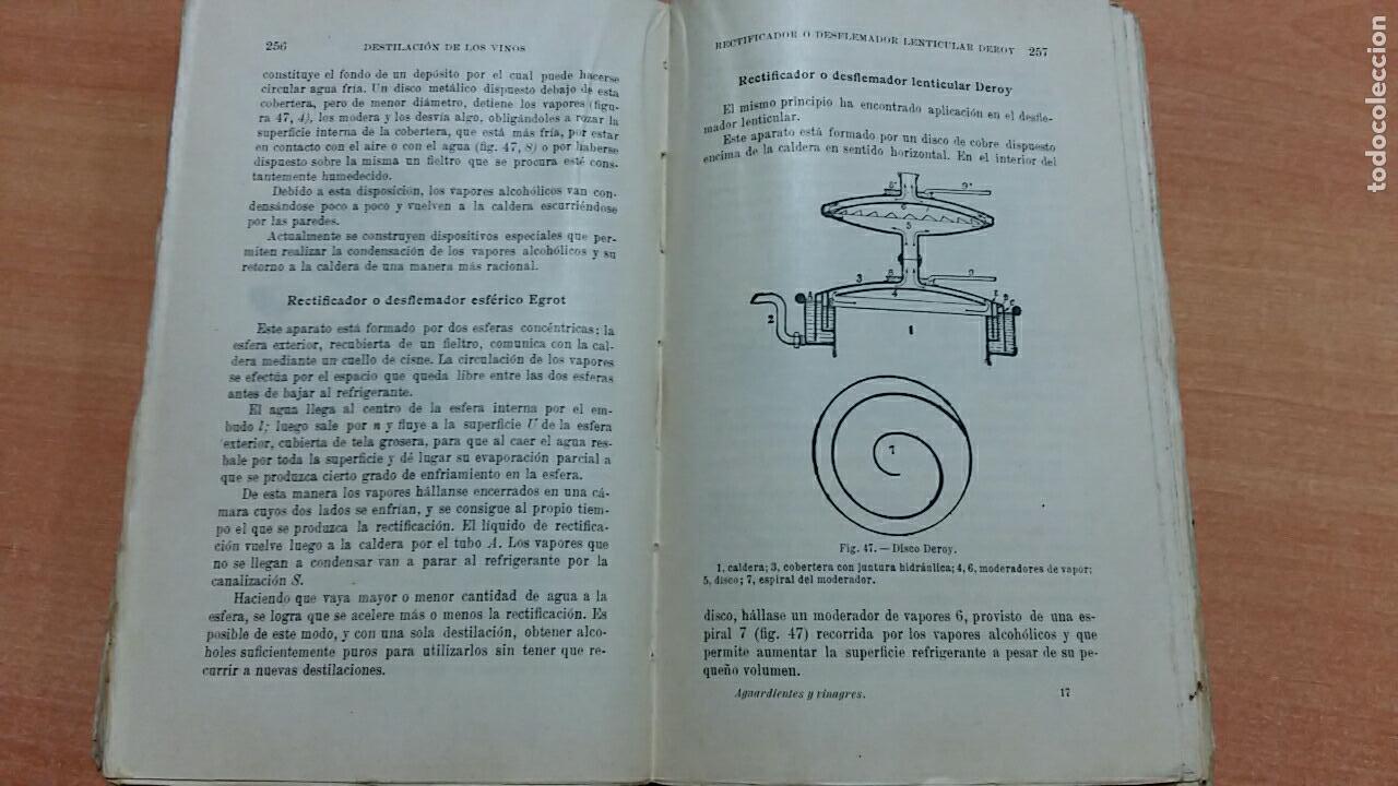 Libros antiguos: ENCICLOPEDIA AGRICOLA. AGUARDIENTES Y VINAGRES. P PACONETT Y L GUITTONNEAU. SALVAT 1922 - Foto 4 - 67003678