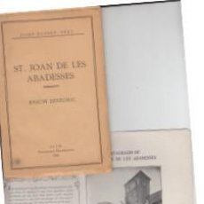 Libros antiguos: SANT JOAN DE LES ABADESSES RESUM HISTORIC VICH 1926 JOSEP MASDEU. Lote 67133729