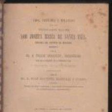 Libros antiguos: VIDA VIRTUDES Y MILAGROS VENERABLE MADRE SOR JOSEFA MARÍA DE SANTA INÉS BENIGANIM VALENCIA 1882. Lote 67320541