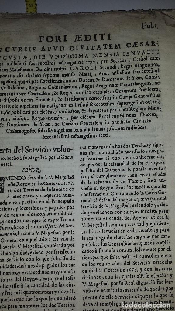 Libros antiguos: FVEROS Y ACTOS DE CORTE DE ARAGON - 1686 - Foto 5 - 67340457