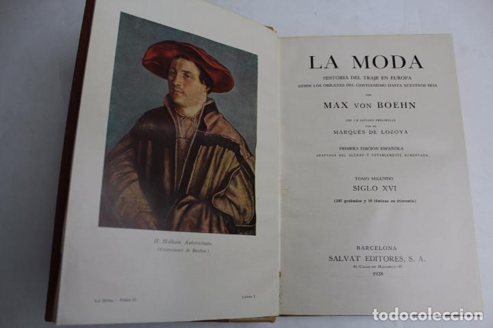 Libros antiguos: L- 4246. LA MODA, HISTORIA DEL TRAJE EN EUROPA, MAX VON BOEHN. 1928. - Foto 14 - 67569285