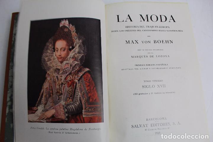 Libros antiguos: L- 4246. LA MODA, HISTORIA DEL TRAJE EN EUROPA, MAX VON BOEHN. 1928. - Foto 23 - 67569285