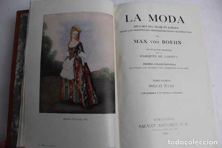 Libros antiguos: L- 4246. LA MODA, HISTORIA DEL TRAJE EN EUROPA, MAX VON BOEHN. 1928. - Foto 31 - 67569285