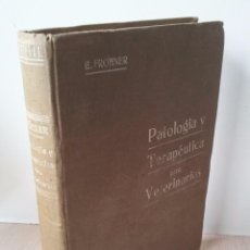 Libros antiguos: EUGENIO FROHNER - COMPENDIO DE PATOLOGIA Y TERAPEUTICA ESPECIALES PARA VETERINARIOS - 1913. Lote 67592033
