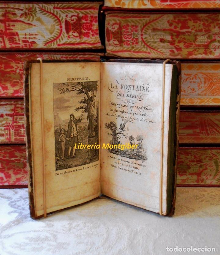 Libros antiguos: LE LA FONTAINE DES ENFANS ou choix de fables de La Fontaine, les plus simples et les plus morales . - Foto 4 - 67676849