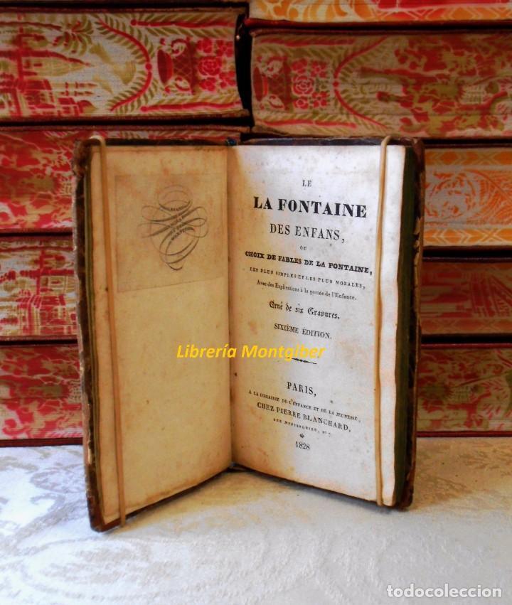 Libros antiguos: LE LA FONTAINE DES ENFANS ou choix de fables de La Fontaine, les plus simples et les plus morales . - Foto 5 - 67676849
