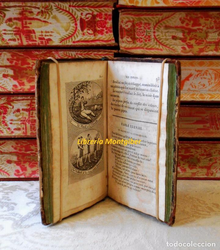 Libros antiguos: LE LA FONTAINE DES ENFANS ou choix de fables de La Fontaine, les plus simples et les plus morales . - Foto 6 - 67676849