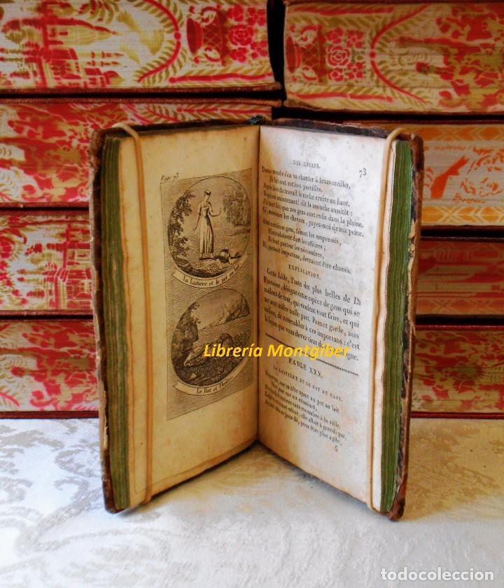 Libros antiguos: LE LA FONTAINE DES ENFANS ou choix de fables de La Fontaine, les plus simples et les plus morales . - Foto 7 - 67676849