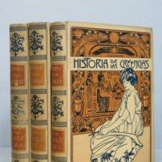 Libros antiguos: 1904.- HISTORIA DE LAS CREENCIAS. FERNANDO NICOLAY. 3 TOMOS. COMPLETA. MONTANER Y SIMON EDITORES. Lote 67877085
