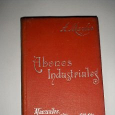 Libros antiguos: MANUALES SOLER ABONOS INDUSTRIALES. Lote 67884309